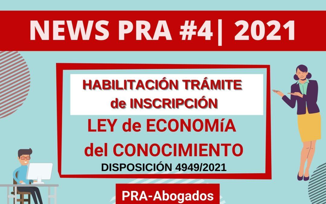 News #4 | 2021 – Habilitación Trámite de Inscripción a la LEC –  Disposición 4949/2021
